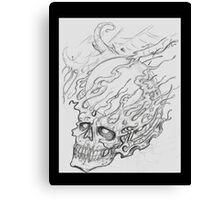 Exploding Crystal Skull Canvas Print