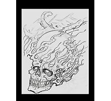 Exploding Crystal Skull Photographic Print