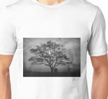 Landscape On Adobe Wall BW Unisex T-Shirt