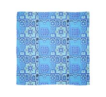 art-nouveau motifs in cold colors Scarf