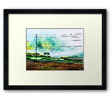 Birds line up Framed Print
