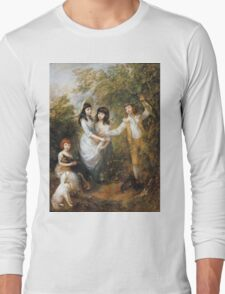 Thomas Gainsborough - The Marsham Children 1787. Children portrait: Children, cute girls, child, nature, beautiful dress, face with hairs, smile, little, kids, dogs, weekend Long Sleeve T-Shirt