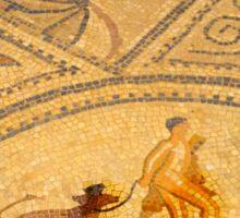 Volubilis Morocco Walking the Dog Mosaic Sticker