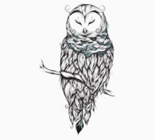 Poetic Snow Owl  Kids Tee
