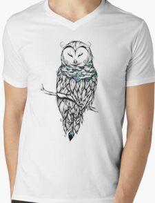 Poetic Snow Owl  Mens V-Neck T-Shirt