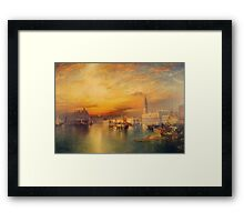 Thomas Moran - View Of Venice 1895. Urban landscape: city view, streets, building, house, Venice , cityscape, architecture, construction, travel landmarks, panorama garden, buildings Framed Print