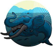 Mutant Zoo - Whalephant by dezignjk