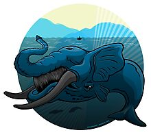 Mutant Zoo - Whalephant Photographic Print