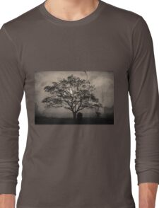 Landscape On Adobe Wall Toned Long Sleeve T-Shirt