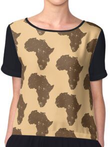 Map shape continent of AFRICA (distressed) Chiffon Top