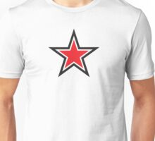 RED STAR with outline Command Unisex T-Shirt