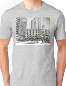 Sunny Day Cityscape Streetscape Unisex T-Shirt