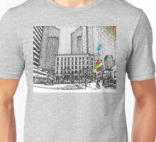 Sunny Day Cityscape Streetscape Unisex T-Shirt