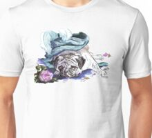 The Marie Antoinette Pug Unisex T-Shirt
