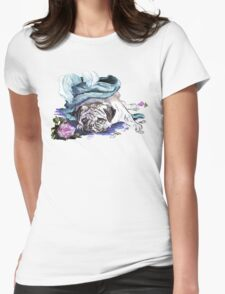 The Marie Antoinette Pug Womens Fitted T-Shirt
