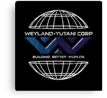 Weyland Yutani - Distressed Bevel Gradient Logo Canvas Print