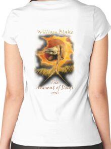 William BLAKE, GOD, BLAKE, Ancient of Days, Artist, English poet, painter, printmaker Women's Fitted Scoop T-Shirt