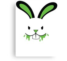 Rabid Rabbit Zombie with Green BLOOD! Canvas Print