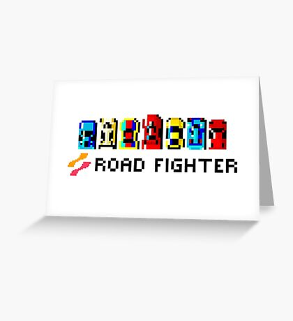 ROAD FIGHTER - 80s CLASSIC ARCADE GAME Greeting Card
