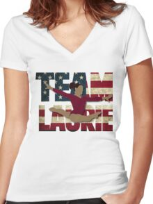 Team Laurie Hernandez - USA (Olympic)  Women's Fitted V-Neck T-Shirt