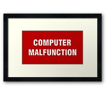 2001 SPACE ODYSSEY - HAL 9000 - COMPUTER MALFUNCTION Framed Print