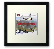 Dogfighters: F-86 vs Gnat Framed Print