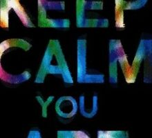 keep calm you are tripping sticker Sticker
