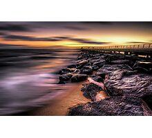St Kilda pier at sunset Photographic Print