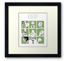 OFF - The complete crew Framed Print