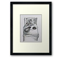 Childrens -with dog, cat and toys Framed Print