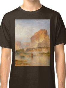 Thomas Moran - Cliffs Of Green River. Mountains landscape: mountains, rocks, rocky nature, sky and clouds, trees, peak, forest, Canyon, hill, travel, hillside Classic T-Shirt