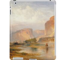 Thomas Moran - Cliffs Of Green River. Mountains landscape: mountains, rocks, rocky nature, sky and clouds, trees, peak, forest, Canyon, hill, travel, hillside iPad Case/Skin
