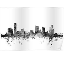 Grand Rapids Michigan Skyline Poster