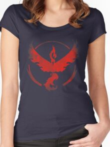 Team Valor grunge red Women's Fitted Scoop T-Shirt