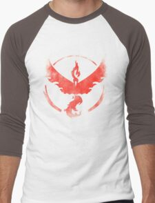 Team Valor grunge red Men's Baseball ¾ T-Shirt