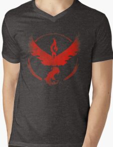 Team Valor grunge red Mens V-Neck T-Shirt