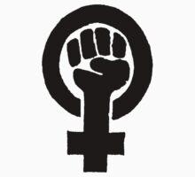 Black Woman Power Fist Kids Tee