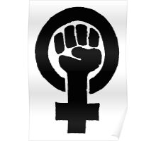 Black Woman Power Fist Poster