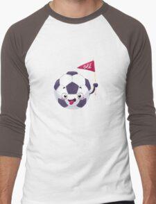 Football Face Men's Baseball ¾ T-Shirt