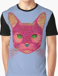 Rose Hungry Cat Graphic T-Shirt
