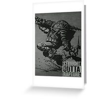 Bioshock Comic Game Big Daddy T Shirt/Phone etc Most Popular Greeting Card