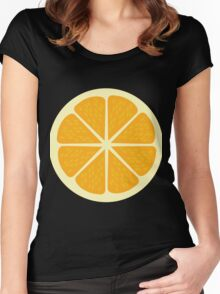Yellow Lemon Graphic Design  Women's Fitted Scoop T-Shirt