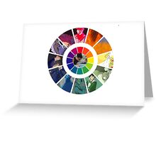 Colors Wheel Challenge Greeting Card