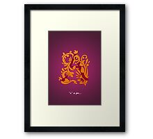 A Is For Framed Print