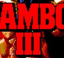RAMBO III - SEGA GENESIS Sticker