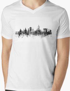 Aberdeen Scotland Skyline Mens V-Neck T-Shirt