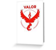 Valor Pokemon GO Greeting Card