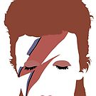 David Bowie - Aladdin Sane Minimal by Posteritty