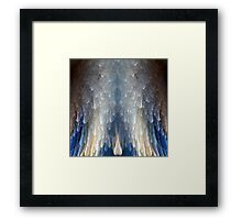 Blue and Gold Angel Wings  Framed Print