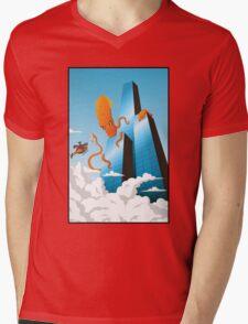 SquidZilla Mens V-Neck T-Shirt
